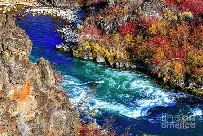 Photograph - Autumn at Dillon Falls Oregon, David Millenheft 2020 by David Millenheft