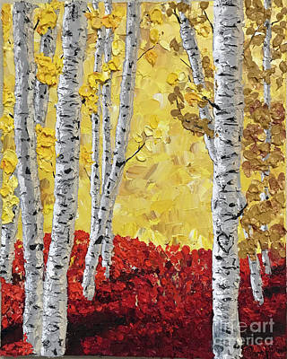 Painting - Autumn Birch by Pam Fries