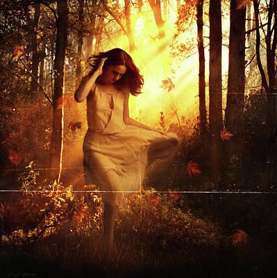 Surrealism Digital Art - Autumn Breeze by Dv Art Designs