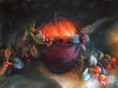 Digital Art - Autumn Centerpiece  by Lois Bryan