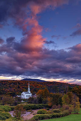 Royalty-Free and Rights-Managed Images - Autumn Dusk at Stowe, Vermont by Rick Berk