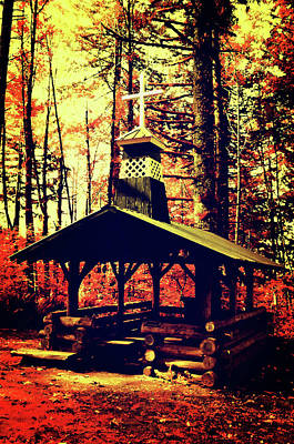 Photograph - Autumn Forest Prayer Chapel by Tikvah's Hope