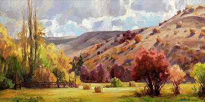 Painting Rights Managed Images - Autumn Illuminated Royalty-Free Image by Steve Henderson