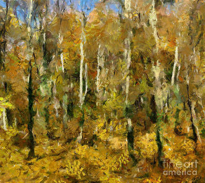 Old Masters - Autumn In A Beech Forest by Dragica Micki Fortuna