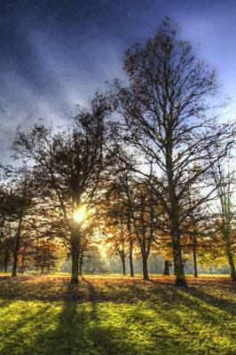 Sean Rights Managed Images - Autumn in London Art Royalty-Free Image by David Pyatt