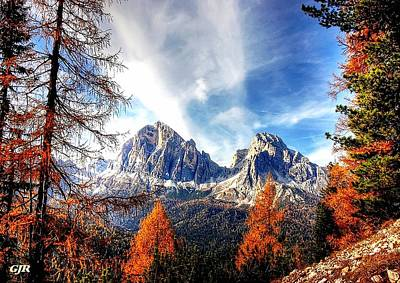 Abstract Royalty-Free and Rights-Managed Images - Autumn Landscape Scene In The Dolomites L A S by Gert J Rheeders