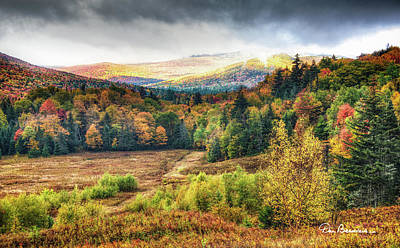 Dan Beauvais Royalty Free Images - Autumn Meadow and Mountains 7337 Royalty-Free Image by Dan Beauvais