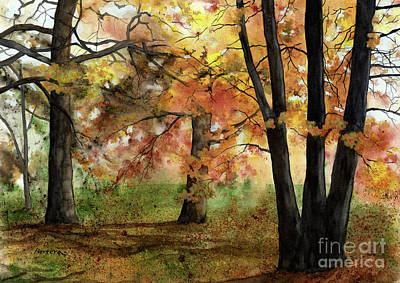 Ballerina Art - Autumn Mood by Hailey E Herrera