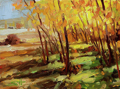 Animal Paintings David Stribbling - Autumn Pathway by Steve Henderson
