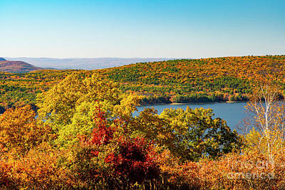 Pediatricians Office Rights Managed Images - Autumn Quabbin Reserve Western Massachusetts Royalty-Free Image by Wayne Moran