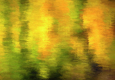 Not Your Everyday Rainbow - Autumn Reflection Abstract by Francis Sullivan