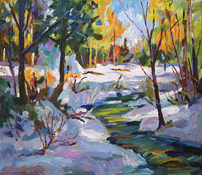 Celebrity Pop Art Potraits - Autumn Snow Plein Air by David Lloyd Glover