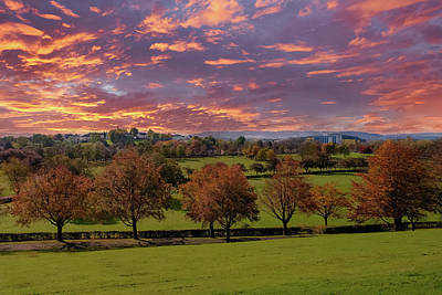 Popular Rustic Neutral Tones - Autumn Sunset Over Bellahouston Glasgow by Jim McDowall