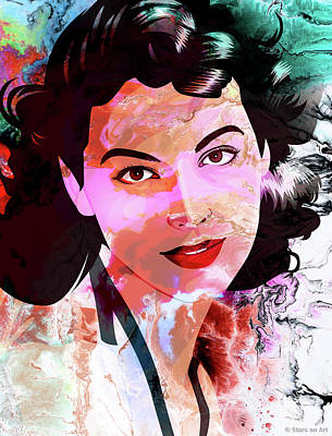Pop Art Rights Managed Images - Ava Gardner Royalty-Free Image by Stars on Art