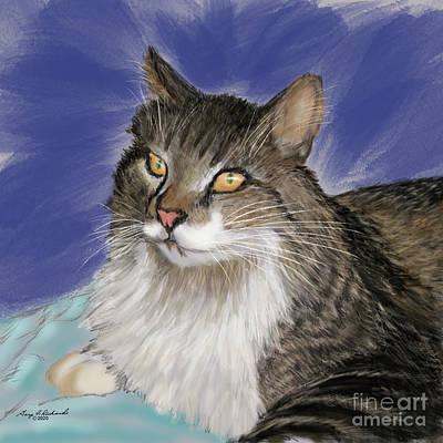 Animals Digital Art - Avatar Challenge Cat by Gary F Richards