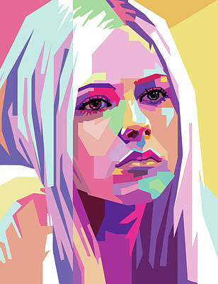 Royalty-Free and Rights-Managed Images - Avril Lavigne Wpap Pop Art by Ahmad Nusyirwan