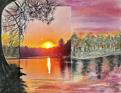 Mixed Media - AZ-Sunset by Karin Palminteri