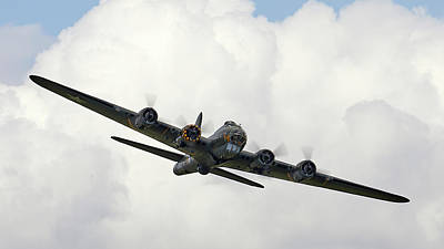 Surrealism Royalty Free Images - B-17 Flying Fortress - Surreal Art Royalty-Free Image by Celestial Images