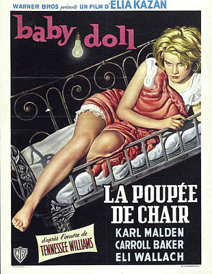 Mixed Media Royalty Free Images - Baby Doll movie poster 1956 Royalty-Free Image by Stars on Art