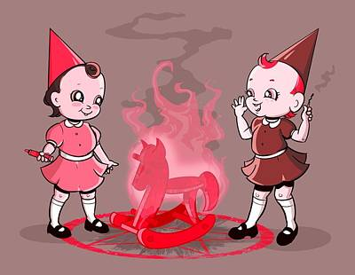 Royalty-Free and Rights-Managed Images - Baby Witches by Ludwig Van Bacon