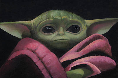 Painting - Baby Yoda by Cliff Wassmann