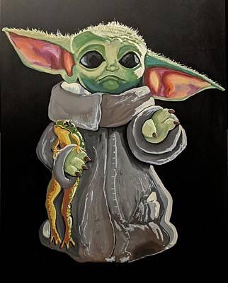 Mixed Media - Baby Yoda by Kirsten Beitler