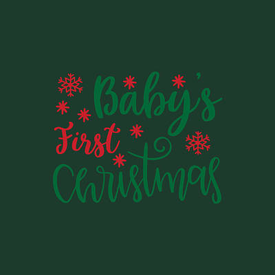 Thomas Kinkade Rights Managed Images - Babys First Christmas-01 Royalty-Free Image by Celestial Images