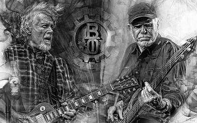 Mixed Media Royalty Free Images - Bachman Turner Overdrive Royalty-Free Image by Mal Bray