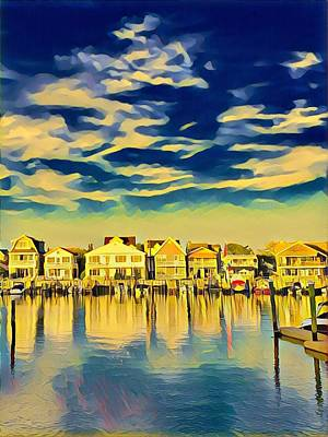 Surrealism Royalty-Free and Rights-Managed Images - Back Bay Living by Surreal Jersey Shore