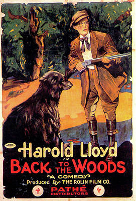 Mixed Media Royalty Free Images - Back to the Woods movie poster 1919 Royalty-Free Image by Stars on Art
