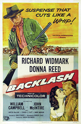 Royalty-Free and Rights-Managed Images - Backlash, with Richard Widmark and Donna Reed, 1956 by Stars on Art