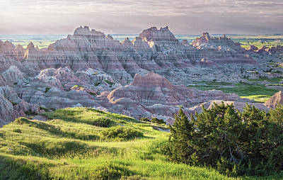 Keith Richards - Badlands National Park Early Morning II by Joan Carroll