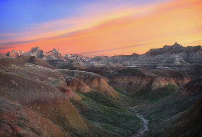 Rusty Trucks - Badlands National Park Sunrise by Dan Sproul