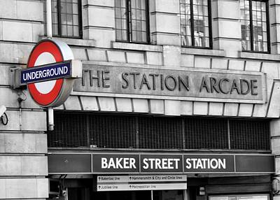 Typography Tees - Baker Street Station by Mary Pille