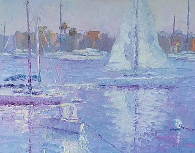 Painting - Balboa Sailing by Terry Chacon