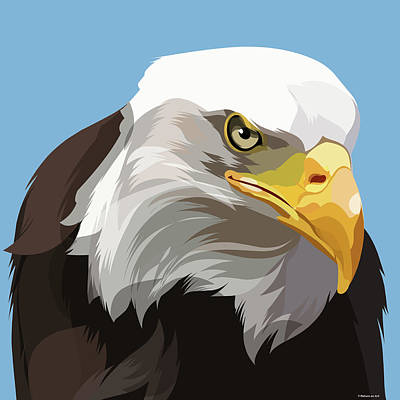 Mixed Media Royalty Free Images - Bald Eagle Royalty-Free Image by Stars on Art