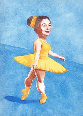 Painting - Ballerina In Orange by Tina Lewis