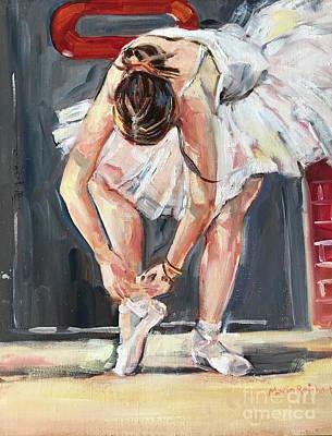 Painting - Ballerina  by Maria Reichert