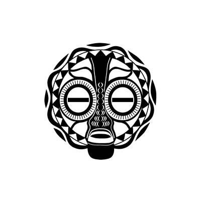 Digital Art - Baluba Mask by Kevin L Brooks