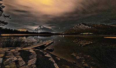Animal Portraits Royalty Free Images - Banff Night sky Royalty-Free Image by Chm -