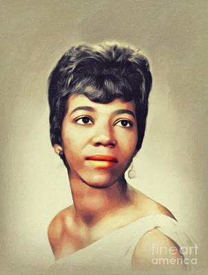 Music Paintings - Barbara Lynn, Music Legend by John Springfield