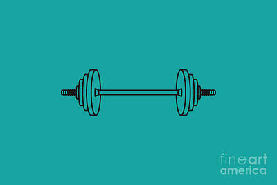 Royalty-Free and Rights-Managed Images - Barbell Vector Icon by THP Creative