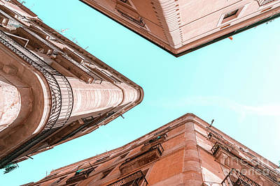 Royalty-Free and Rights-Managed Images - Barcelona City, Gothic Quarter, El Raval, Perspective View, Downtown Barcelona Spain, Travel Print by Radu Bercan