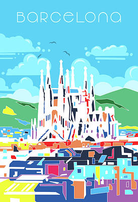 Royalty-Free and Rights-Managed Images - Barcelona City Modern by Bekim M