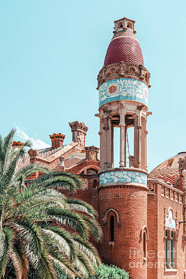 Royalty-Free and Rights-Managed Images - Barcelona Exotic Architecture Details Print, Architecture Print, Sant Pau Hospital Landmark Urban by Radu Bercan