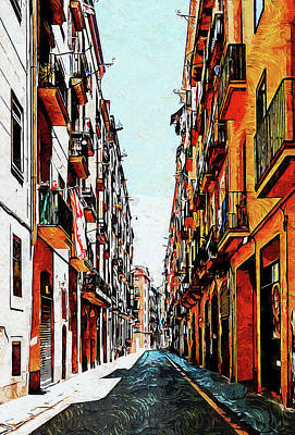 Polaroid Camera - Barcelona, Gothic Quarter - 15 by AM FineArtPrints
