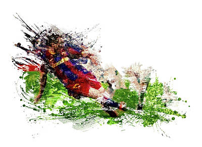 Sports Royalty-Free and Rights-Managed Images - Barcelona Messi by All Sport Art
