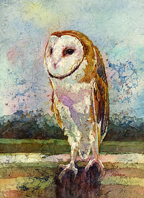 Royalty-Free and Rights-Managed Images - Barn Owl by Hailey E Herrera