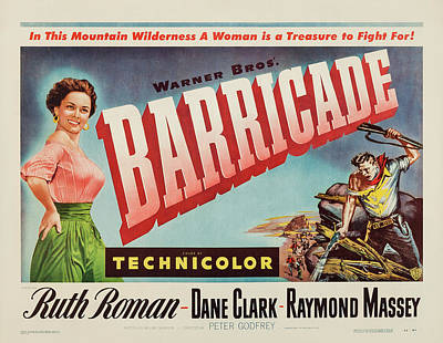 Royalty-Free and Rights-Managed Images - Barricade, with Ruth Roman, 1950 by Stars on Art