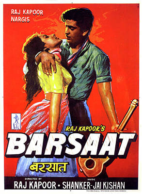 Royalty-Free and Rights-Managed Images - Barsaat poster 1949 by Stars on Art